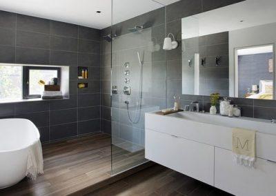 hardwood in shower